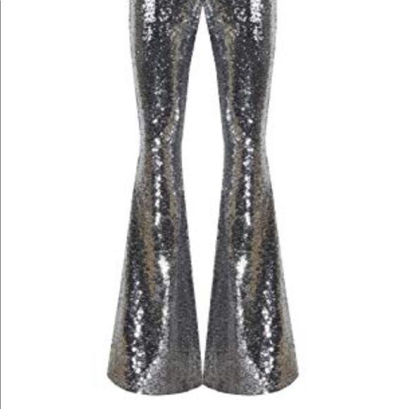 9d13c9717b Pants | Luxury Glam Silver Sequin Glitter Bell Bottoms | Poshmark